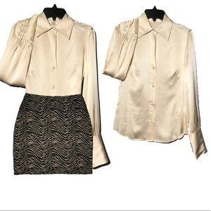 Banana Republic 100% silk button down blouse